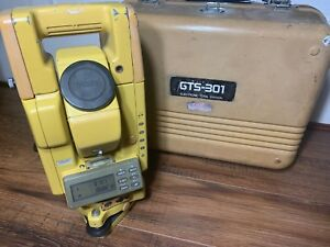 Topcon Gts 301 Electronic Total Station Series Gts300 Gts301 With Case