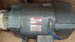 Kinamatic Ge Direct Current 40 Hp Dc Shunt Wound Motor