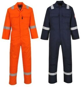 Portwest Ubiz5 Flame Resistant Coverall Nfpa 70e Nfpa 2112 Navy Or Orange