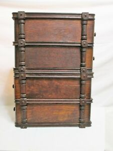 4 Vintage Singer Sewing Machine Cabinet Drawers With Frames And Hardware