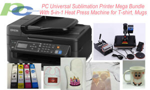 Pc Universal Sublimation Bundle With Printer 5 in 1 Heat Press