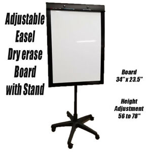 Adjustable Dry Erase Board Easel Flip Chart With Stand Brand New