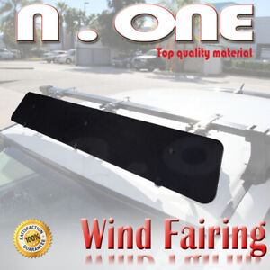 43 Roof Top Cross Bar Air Deflector Aerodynamic Wind Fairing Set For Bmw