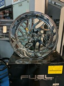 4 22 Fuel Triton D609 Wheels 22x12 6x135 6x139 7 43 Chrome Rims