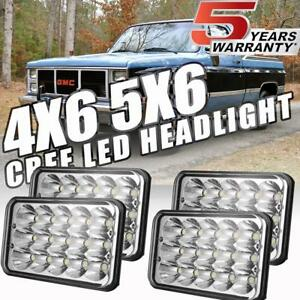 4x6inch Cree Led Headlights Clear Sealed Beam For Chevy Pickup 1981 1987 Ford Us