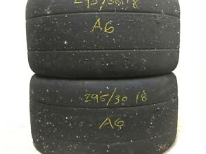 2 Hoosier A6 Compound Race Tires 295 30zr18 Dot Racing Competition Track Slicks