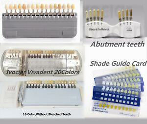 Dental A d Shade Guide Bleach Abutment Ivoclar Vivadent Porcelain Teeth