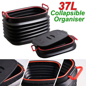 Vehicle Trash Can Car Garbage Rubbish Storage Box Magic Container Oval R bn 37l
