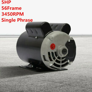 Sale 5 Hp Spl 3450rpm Air Compressor 60 Hz Electric Motor 208 230volts One Phase