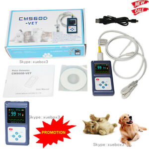 Veterinary Pulse Oximeter Handheld Spo2 Pr Monitor Ear Tongue Probe Software