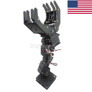6dof Robot Mechanical Arm Hand Clamp Claw Manipulator Frame For Arduino Diy Us 1