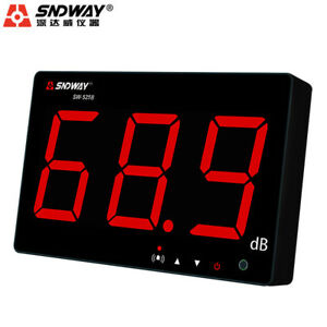 Sndway Sw 525b 30 130db Digital Sound Level Meter Large Lcd Display Noise Us Wi1