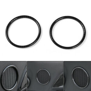 Abs Door Speaker Ring Trim Frame Cover Small Size For Ford Mustang 2015 2017 Usa