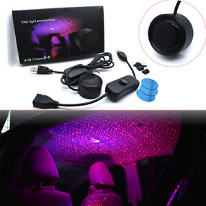 Car Ceiling Star Light Led Atmosphere Projector Armrest Box Galaxy Lamp Twinkle