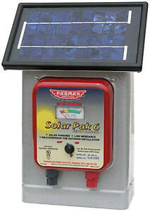Electric Fence Charger 25 mile Solar pak 6 volt Battery