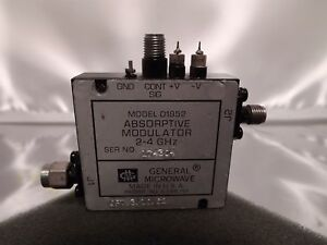 Gm General Microwave D1952 2 4ghz Sma Absorptive Modulator Opt 3 10 62