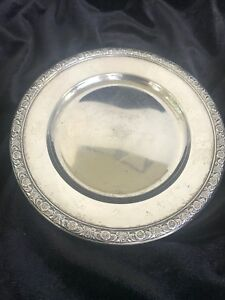 Prelude Repousse International Sterling Silver 6 Bread Plate Wine Coaster