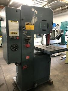 Doall 20 Vertical Band Saw Variable Speed With Welder Model 2012 2a