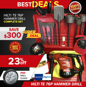 Hilti Te 76p Hammer Drill Preowned Free Wall Clock Extras Fast Ship