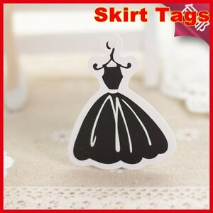 500pcs Black Lady Dress Hang Tags good For Girl Clothes Fee Shipping clothes Tag