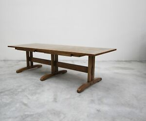 Vintage Mission Arts Crafts Style Oak Coffee Table