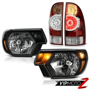 2012 2013 2014 2015 Toyota Tacoma 4x4 Headlights Red Clear Tail Lights Oe Style