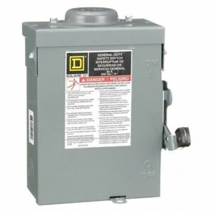 60 Amp 240vac Single Throw Safety Switch 2p Square D Du222rb