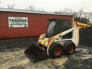 1996 Bobcat 753 Skid Steer Loader W Cab