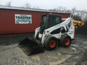 2012 Bobcat S650 Skid Steer Loader W Cab 2 Speed High Flow