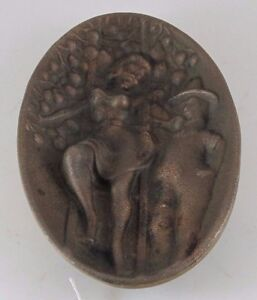 Beautiful Lady On Ladder In An Apple Orchard Erotic Bronze Dish Or Tray Jz 0775