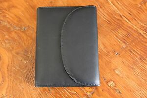 Never Used T Anthony Black Leather Day Planner Wallet Address Book Calendar