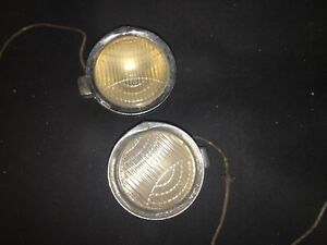 Be Bright Vtg Rare C M Hall Lamp Co 3 7 8 In 1929 Nash Cowl Headlights