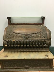 Antique National Cash Register For Repair Restore Projects Parts See Details