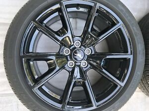 Ford Mustang 19 Factory Oem Wheel Rim And Tire Black 10033