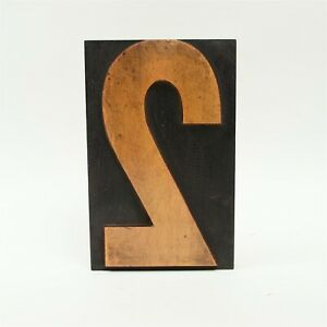 8 By 5 1 8 Inches Number 2 Wood Letterpress Type Printers Block Honey Patina