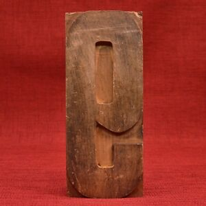 8 5 16 By 3 1 2 Number 9 Or 6 Large Wood Type Letterpress Printers Block