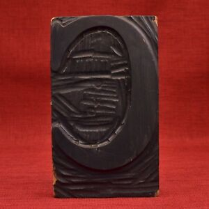 9 By 5 5 16 Letter C Large Hand Carved Wood Type Letterpress Printers Block