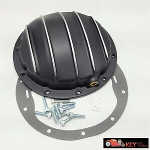 10 Bolt Black Aluminum Differential Rear End Cover Chevy 8 5 8 1 2 Car Truck
