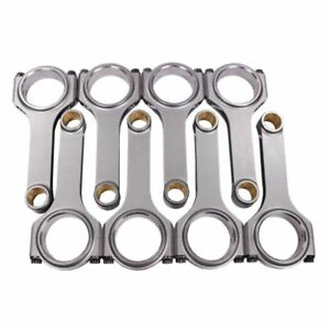 H Beam 5 700 2 100 927 Bronze Bush 4340 Connecting Rods For Chevy Sbc 350