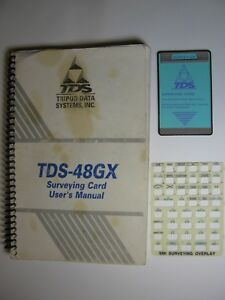 Tds Survey Gx Surveying Card For Use With The Hp 48gx With Manual And Overlay