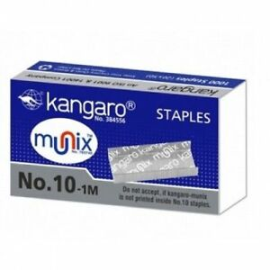 50x Kangaro Regular Stapler Staples Metallic Pins No 10 50x1000 Pin