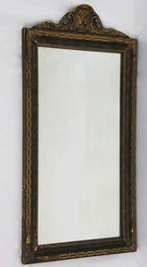 Vintage Carved Wood Gilt Gesso Wall Mirror Art Nouveau Eastlake Victorian