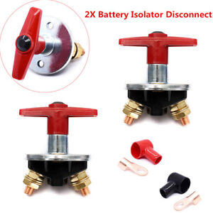 Battery Disconnect Power Cut Off Kill Selector Switch For Rv Boat Car Van Marine