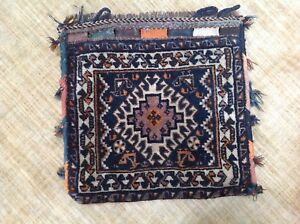 Gorgeous Antique Persian Woven Pillow Case Floor Cushion Persian Rug Kilim