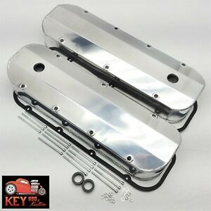 Big Block Chevy Polished Aluminum Fabricated Valve Covers Bbc 396 454 Gaskets