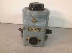 Superior Electric Powerstat 116b Variable Autotransformer
