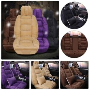 Full Sets 11pc 3d Seat Covers Front Rear Cushion Warm Winter Universal Plush Fur