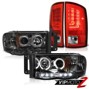 02 05 Dodge Ram 2500 1500 3 7l Wine Red Tail Brake Lights Smoked Headlights Led