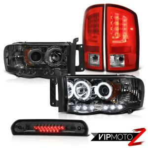 02 05 Dodge Ram 1500 2500 5 7l Tail Lamps Smoked Headlamps 3rd Brake Light Cool