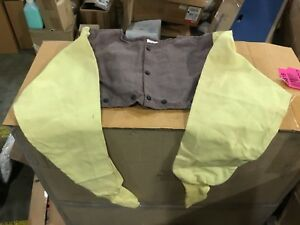 Flame resistant Welding Cape Sleeve Size Xl Brown Kevlar viscose